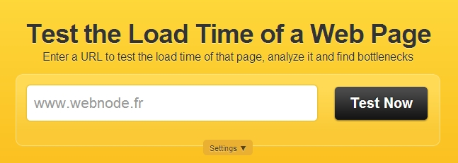 test page loading time